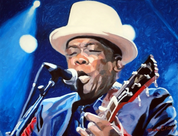 peinture bluesman